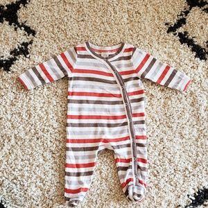 Newborn Norsdtrom Baby striped footie